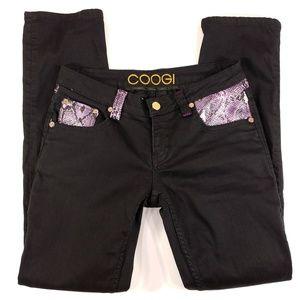 COOGI Women's Black Skinny Jeans - 9/10